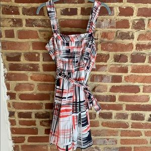 Kensie patterned fit and flare dress